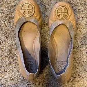 Tory Burch Tan Ballet Flats
